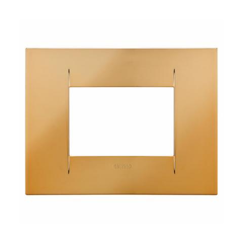GEO plate 3 gang - Gold