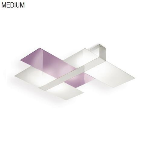 Ceiling light 62cm 2xE27 max 57W white-lilac