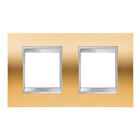 Рамка LUX International 2+2 хоризонтална - Gold