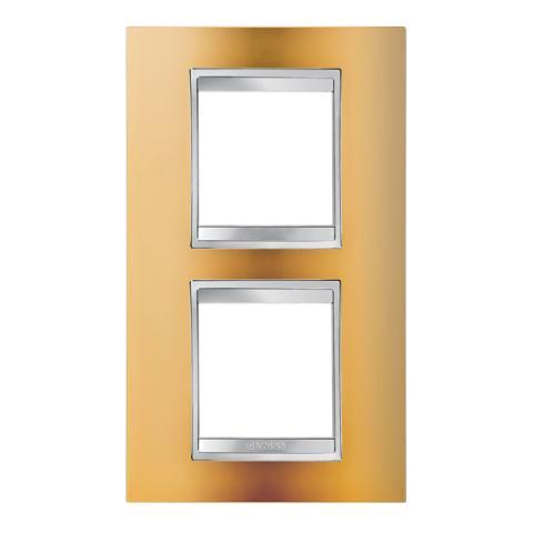 Рамка LUX International 2+2 вертикална - Gold