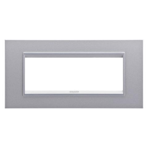Рамка LUX 6 модула - метал - Monochrome Titanium