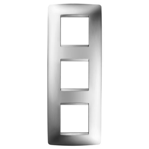 Рамка ONE International 2+2+2 вертикална - Chrome