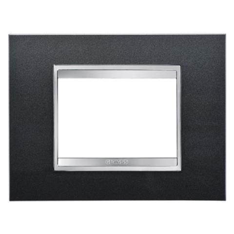 LUX 3-gang plate Slate