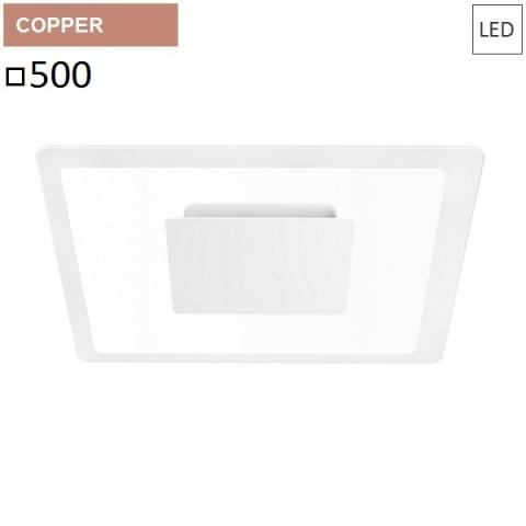 Wall/ceiling lamp 500x500 LED 40W rose gold