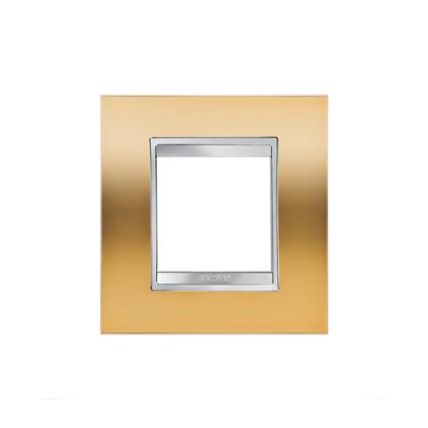 Рамка LUX International 2 модула - Gold