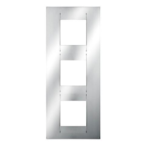 GEO International 2+2+2 gang vertical plate - Chrome