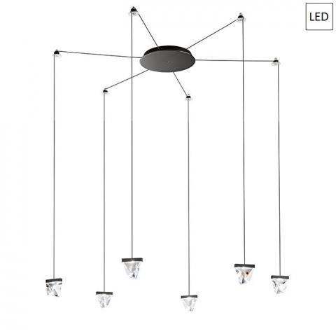 Пендел 6x4.3W LED антрацит