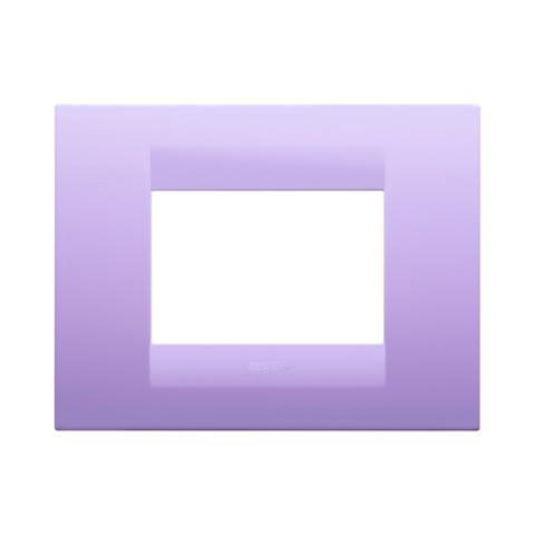 GEO plate 3 gang Amethyst Purple