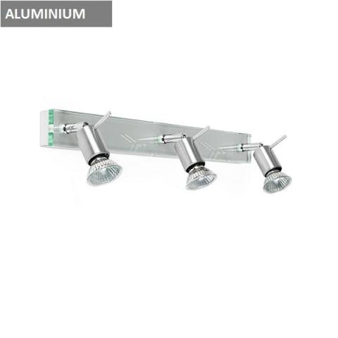 Wall lamp - spotlight 3xGU10 aluminium