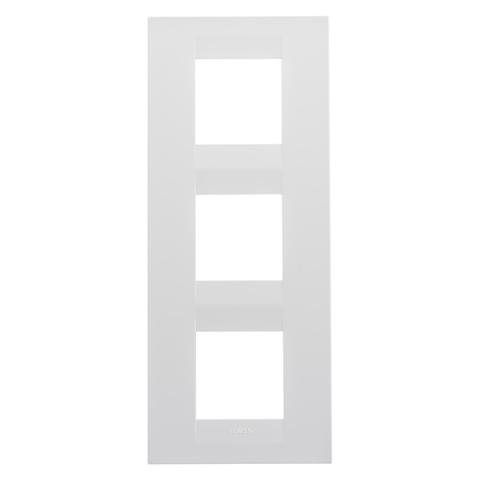 GEO International 2+2+2 gang vertical plate - Milk White