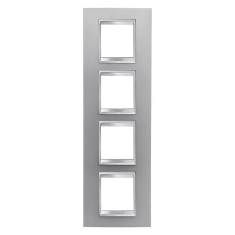 Рамка LUX International 2+2+2+2 вертикална - Titanium