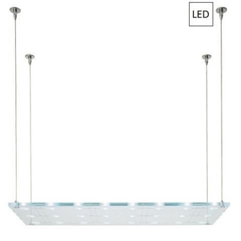 Pendant 100x50cm 24x3W G4 LED Transparent