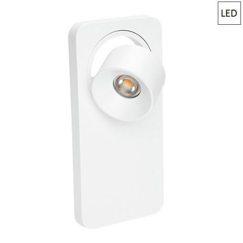 Wall/ceiling light 5W LED 3000K White ON/OFF Switch