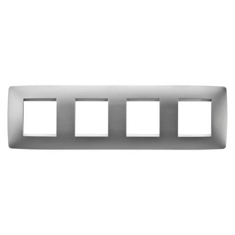 Рамка ONE International 2+2+2+2 хоризонтална - Titanium