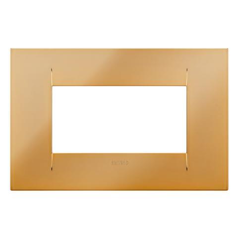 GEO plate 4 gang - Gold