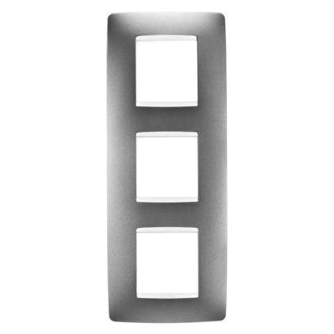 Рамка ONE International 2+2+2 вертикална - Titanium