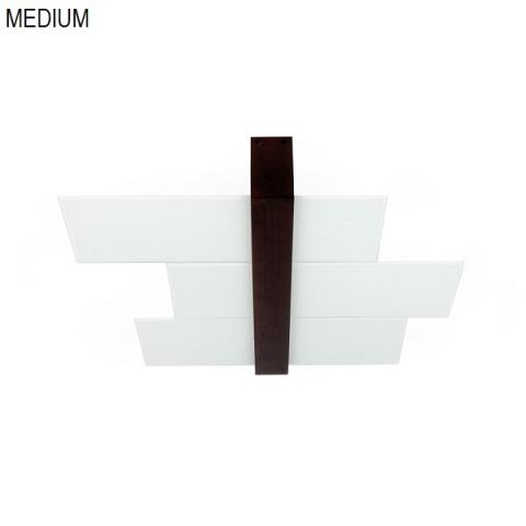 Ceiling light 62cm 2xE27 max 57W white-wood walnut