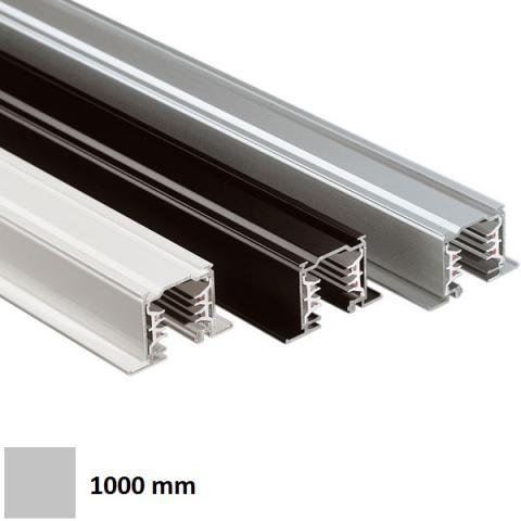 Трифазна релса LKM за вграждане 1m сива