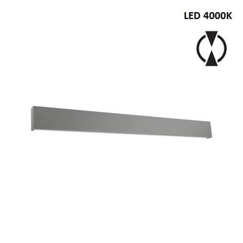 Аплик L - LED 28W 4000K - бетоново сив