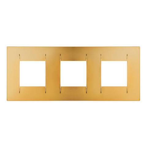 Рамка GEO International 2+2+2 хоризонтална - Gold