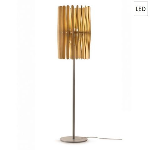 Наземна лампа Ø43cm 17W+8,7W LED светло дърво