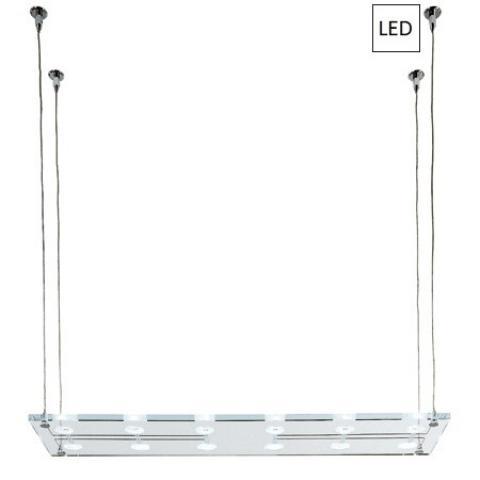 Pendant 100x26cm 12x3W G4 LED Transparent