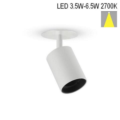 Спот NANOPERFETTO-R LED 3.5W/4.5W/6.5W 2700K бял