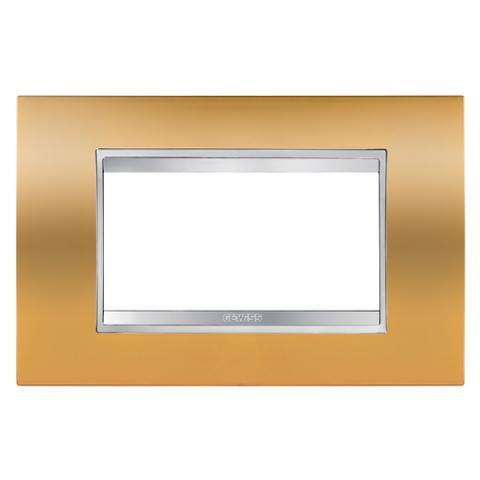 Рамка LUX 4 модула Gold