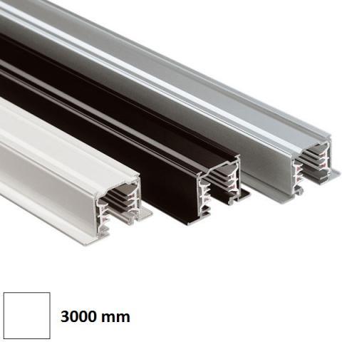 Трифазна релса LKM за вграждане 3m - бяла