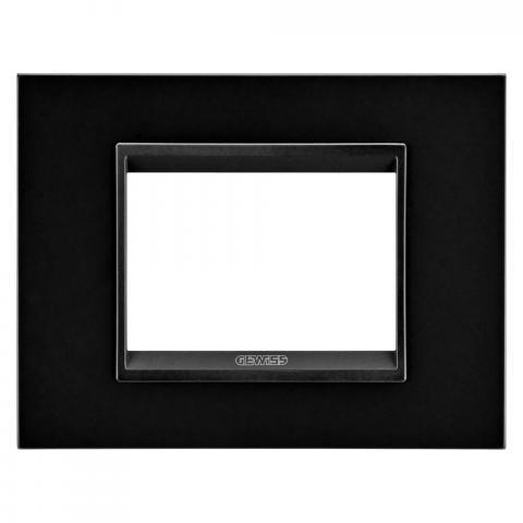 Рамка LUX 3 модула - метал - Monochrome Black