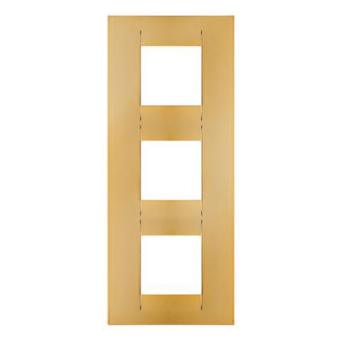 GEO International 2+2+2 gang vertical plate - Gold