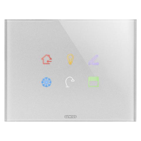 Plate ICE TOUCH KNX - 6 Touch zones - Glass - Titanium
