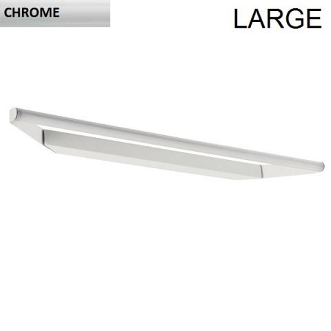 Directional wall/ceiling light 93cm LED 19W IP40 chrome