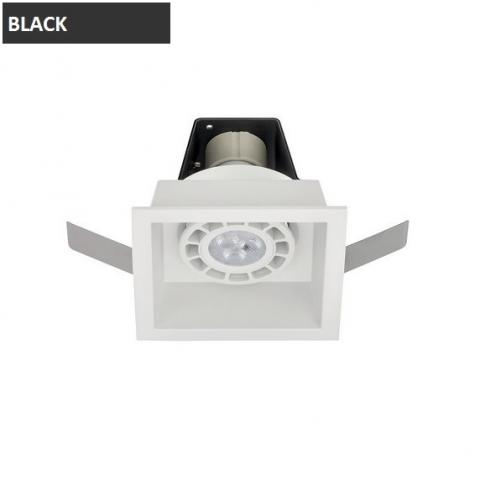 Downlight 1xGU10 89x89mm black
