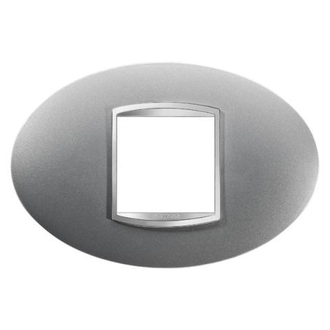 ART plate 2-gang - Titanium