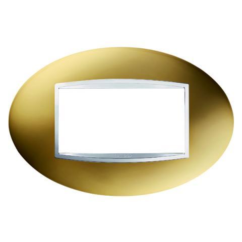 ART 4 gang plate - Gold