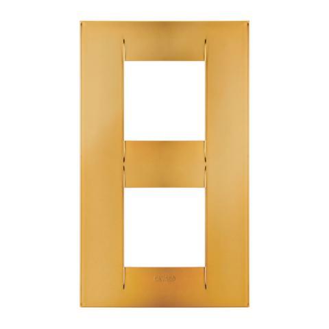Рамка GEO International 2+2 вертикална - Gold
