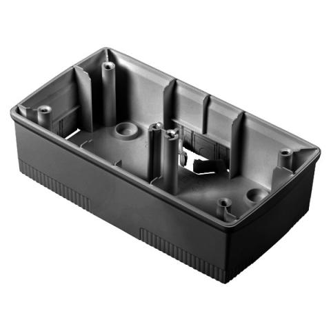 Wall-mounting box black 2+2 gang for plates ONE International