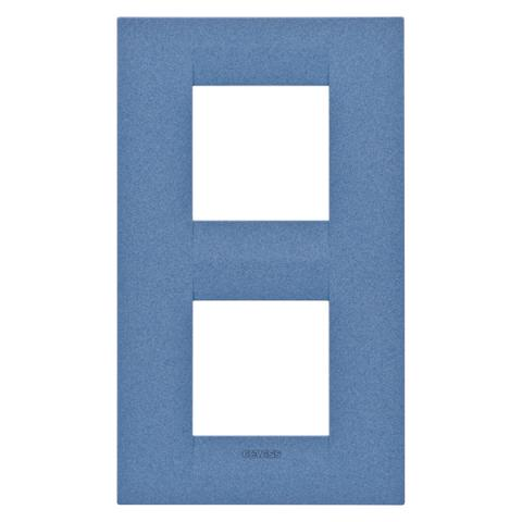 Рамка GEO International 2+2 вертикална - Sea Blue