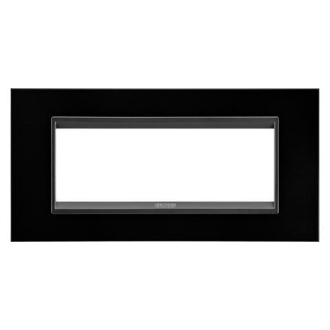 Рамка LUX 6 модула - метал - Monochrome Black