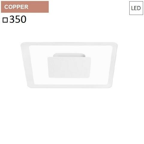 Wall/ceiling lamp 350x350 LED 19W rose gold