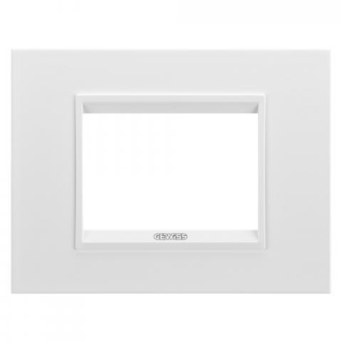Рамка LUX 3 модула - метал - Monochrome White