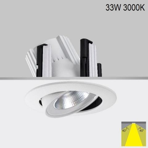 Adjustable downlight RA 17 DIXIT LED 33W 3000K IP20