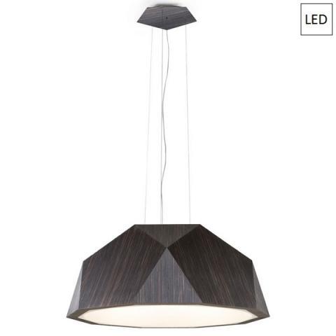 Пендел Ø115cm тъмно дърво LED