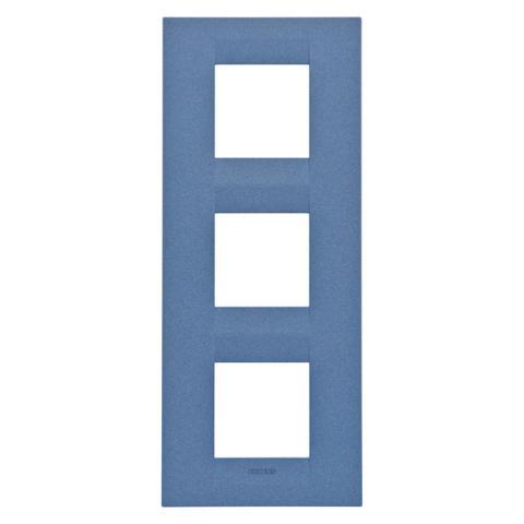 GEO International 2+2+2 gang vertical plate - Sea Blue