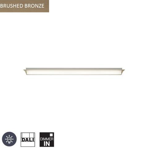 Ceiling Light 1000mm LED DALI brushed bronze
