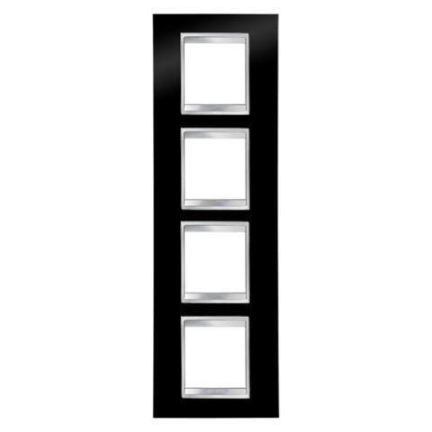 Рамка LUX International 2+2+2+2 вертикална - Toner Black
