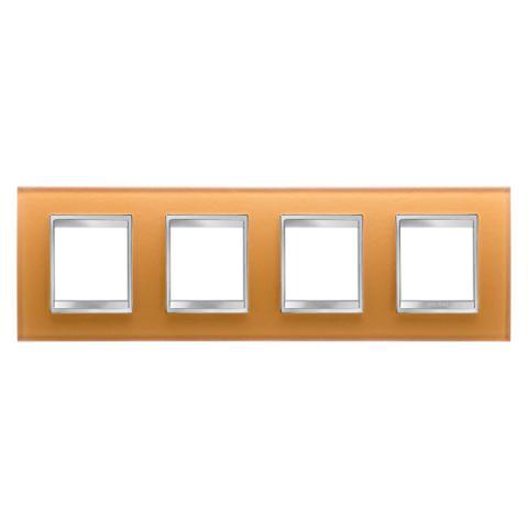 Рамка LUX International 2+2+2+2 хоризонтална - стъкло - Ochre
