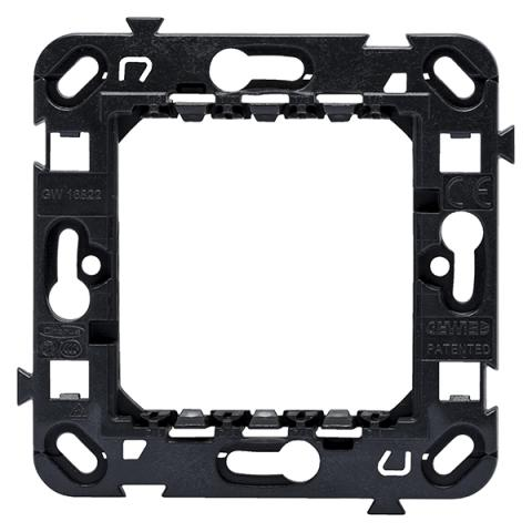 2 gang frame support International - for fixing screws (not included)