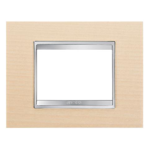 Рамка LUX 3 модула - Wood - Maple